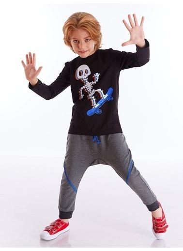 Mushi Colorful Skate Erkek Çocuk Pantolon Takım Siyah
